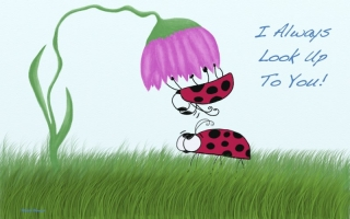 Lady bugs ~ I Always Look Up To You