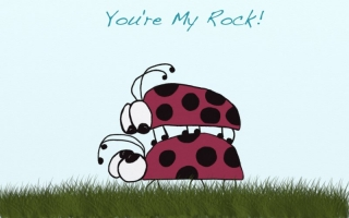 Lady Bugs ~ You're My Rock!