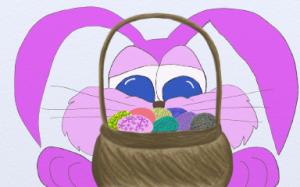The Sneaky Fuchsia Bunny.