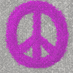 Fuchsia Splat Painted Peace Sign