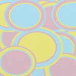 Pastel colored circles of pink, blue, and yellow.