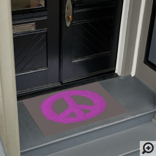 Peace Sign doormat available in my Zazzle Store.