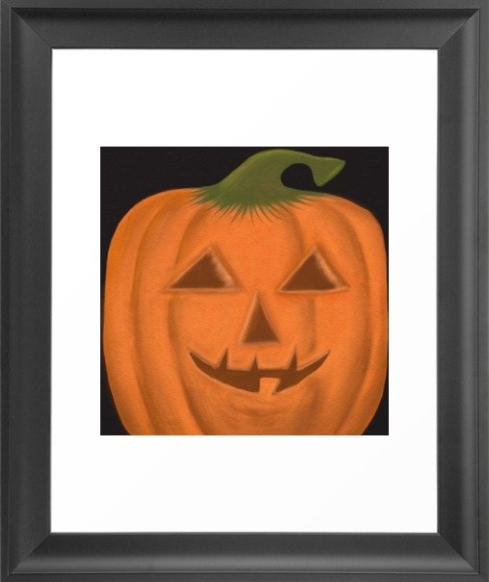 The Textured Pumpkin Framed Print