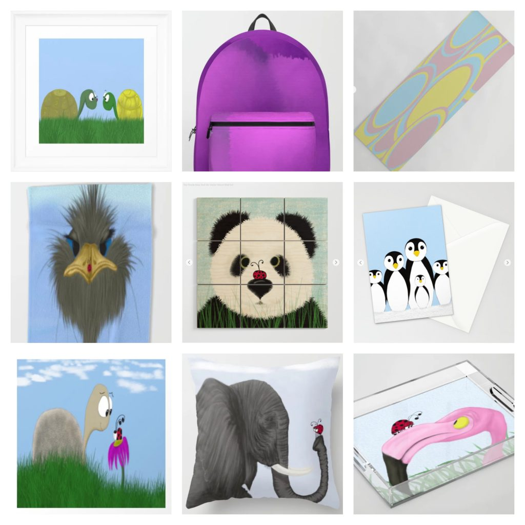 Wildlife art and abstract art on all kinds of fun products!
