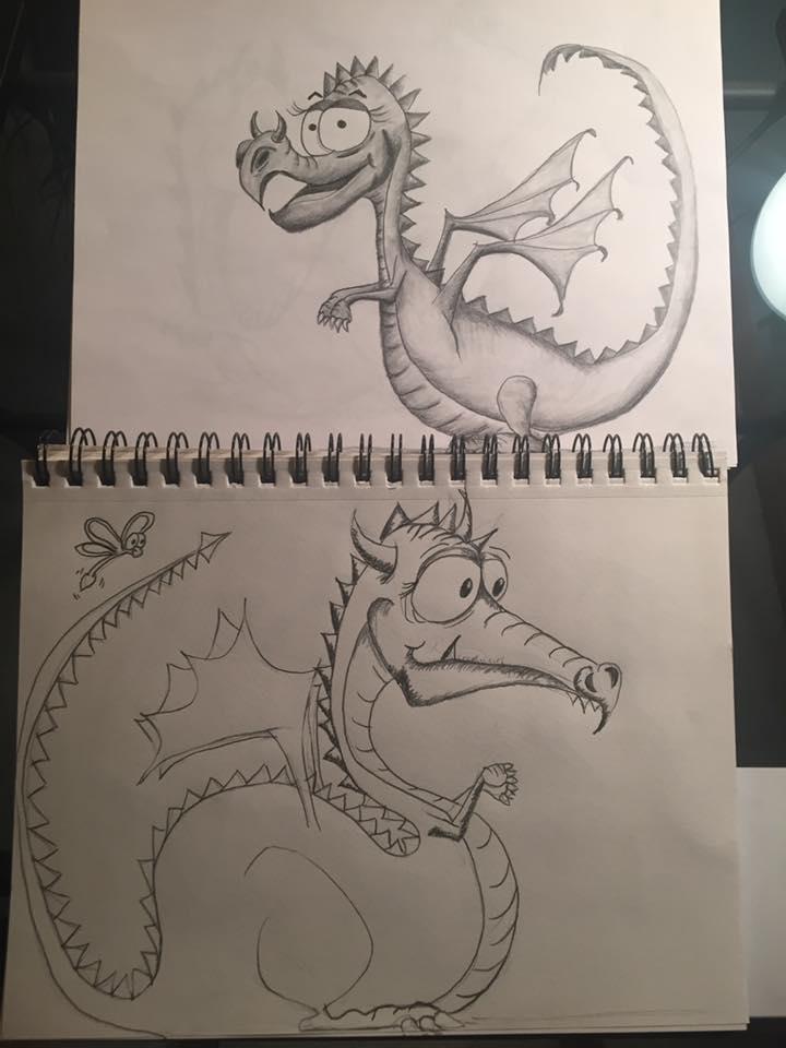 My dragon illustrations. Progress on my dragon's. Cute dragon illustrations.